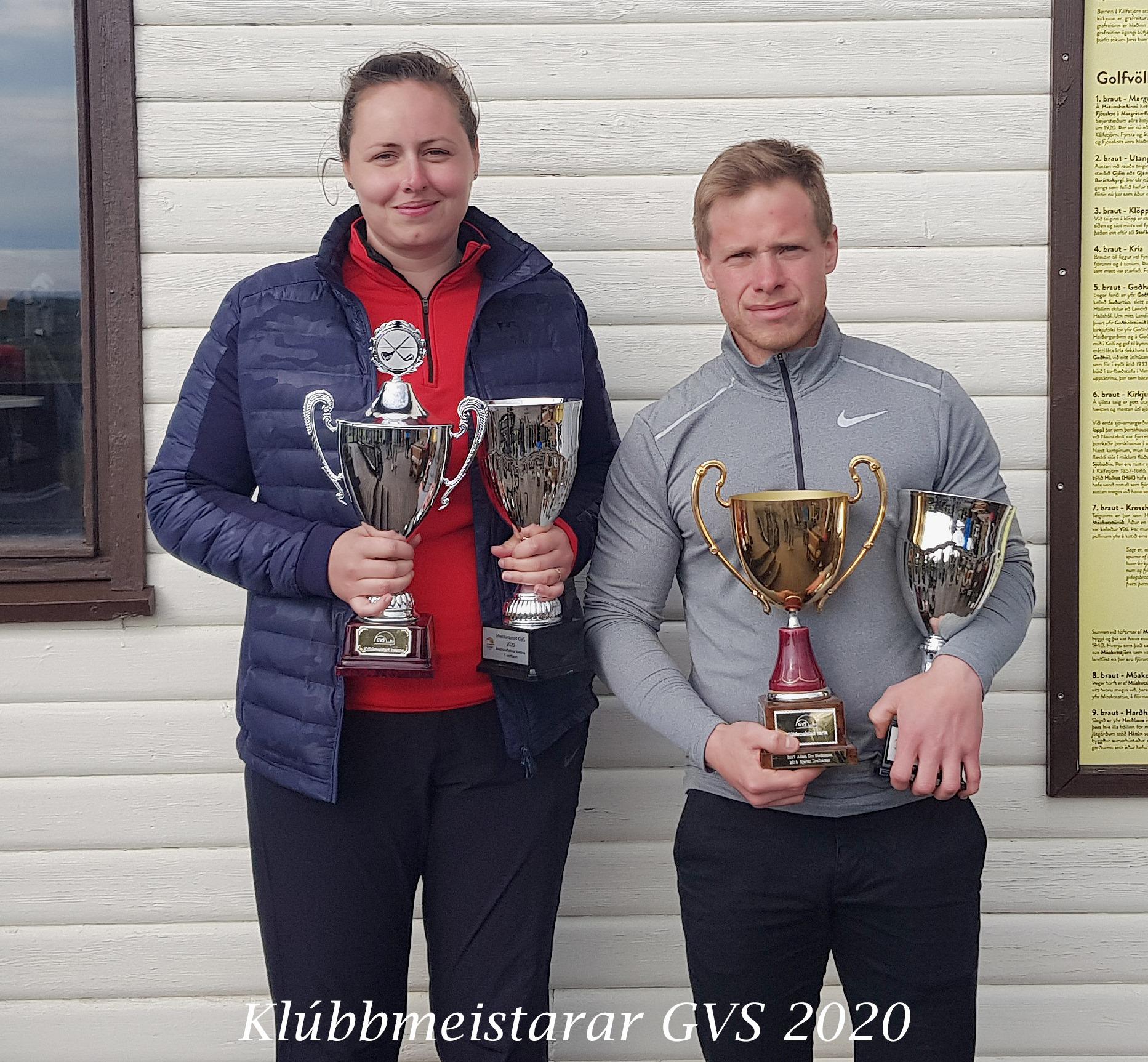 Adam og Heiður klúbbmeistarar GVS 2020
